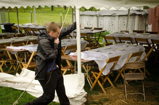 Securing the tent
